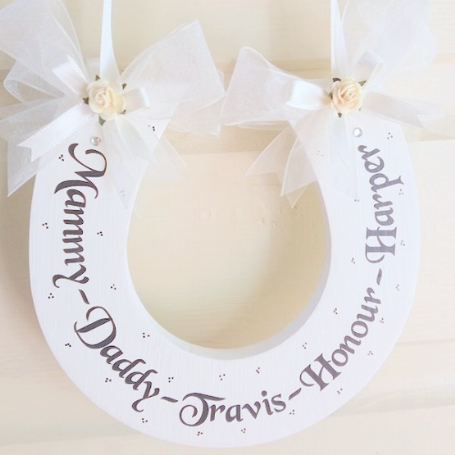 Personalised Wedding Horseshoe With Children's Names